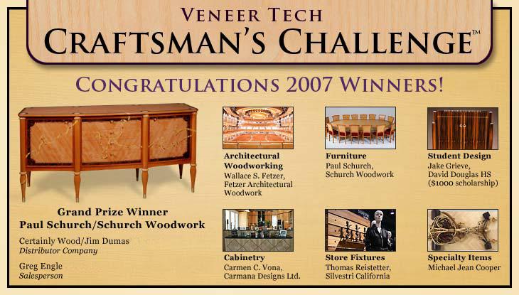 Veneertech Craftsman Challenge Winner